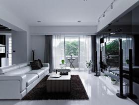 现代风貌四居室大宅装潢设计案例