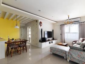 田园风格三居室厅缤纷设计