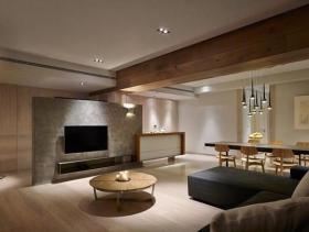 现代简约两居设计实景案例