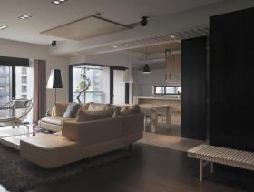 现代简约三室一厅案例设计