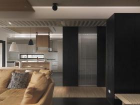 97平现代时尚两室一厅装修效果展示