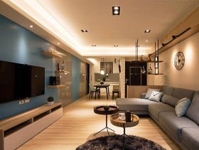 现代简约79平两居室设计展示