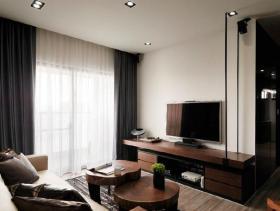 现代脉动三居室装修案例