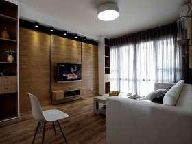 原木素材简约实用三居装修图集欣赏