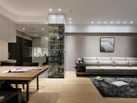 简约灰色系三居室实用设计精品案例