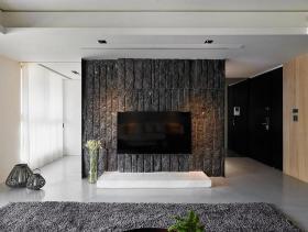 现代风格多元素材二居室装潢实例
