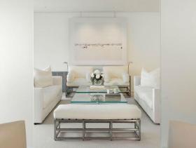 纯净莹白简约一居室公寓设计效果图