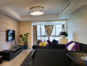 现代时尚质感三居室装修效果展示