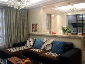 优雅大方简约欧式风格三居室装修案例