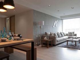 质朴现代简约两居装修案例设计