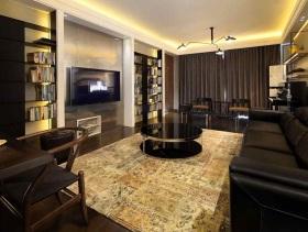 现代中式混搭风二居室装修案例