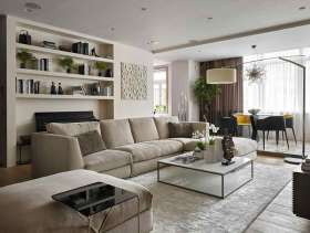 自然元素现代风格二居室装饰设计实例精选