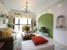 清新绿意田园风三居室装修设计欣赏