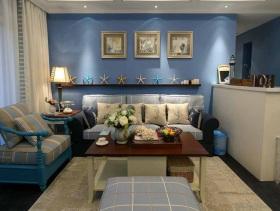 温馨地中海元素小三居装潢实例