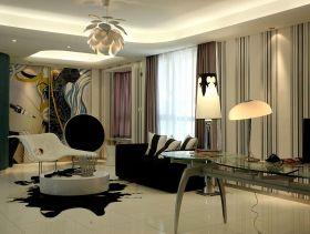 后现代抽象主义三居室设计案例