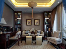 新中式沉稳大气三居室装潢案例