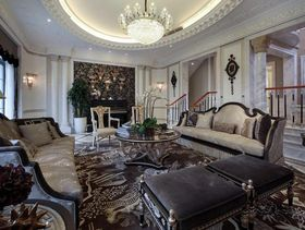 欧式豪华高贵三居室修案例