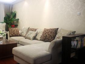 素雅舒适简欧风格三居室室内装修效果