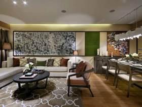 自由潇洒现代三室一厅装潢案例