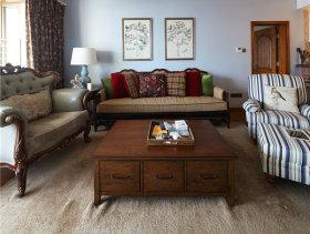 温馨随意美式三室一厅装潢案例