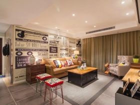 简约可爱三室一厅设计案例