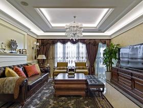 华贵欧式115平两居室装潢案例