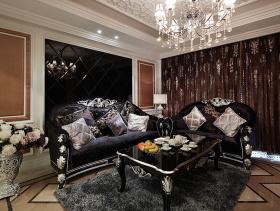 高雅华丽欧式风格三室两厅装修效果展示