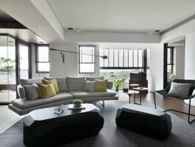 台式现代灰色四居室装修案例