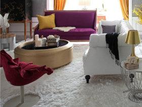时尚热情现代三居室装潢案例