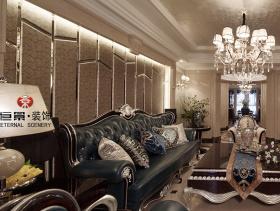清新雅致欧式风格三居室家装效果图