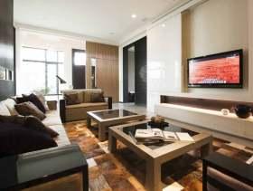时尚雅致新古典风格两居室大户型设计案例