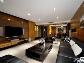 沉稳优雅现代风格三室两厅案例分析