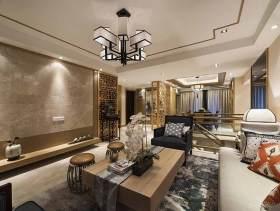 时尚雅致新中式风格四居室大气装潢