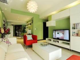 绿色清爽简约风二居室装修设计图集
