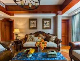 浪漫底蕴混搭三居室装修图片欣赏
