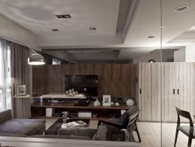 时尚现代质感三居装潢设计