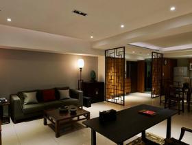 中式古色古香两居装修设计