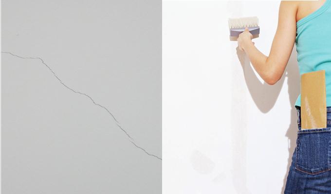 墙面发霉起皮有小裂缝怎么办?