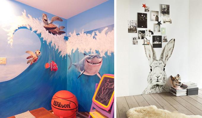 告别油漆壁纸,儿童房用手绘墙有趣又环保
