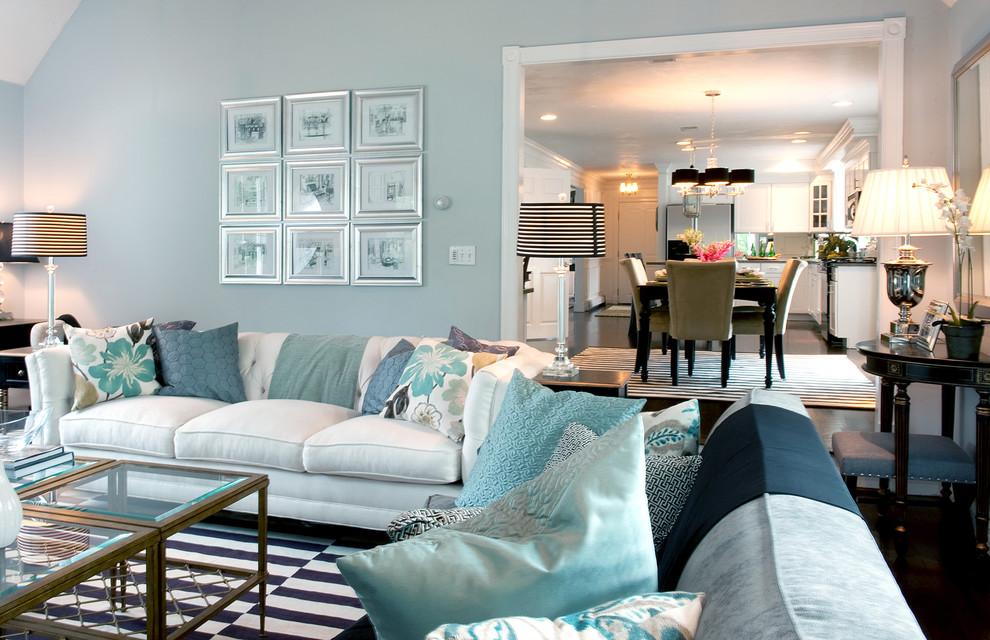 light blue and black living room interior design - Light Blue And Black Living Room